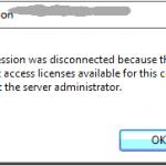 Naprawa błędu podczas łączenia się przez zdalny pulpit dotyczący serwera licencji.