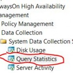 "Data Collector - ""Query Statistics"" - naprawa ""validation status VS_NEEDSNEWMETADATA"""